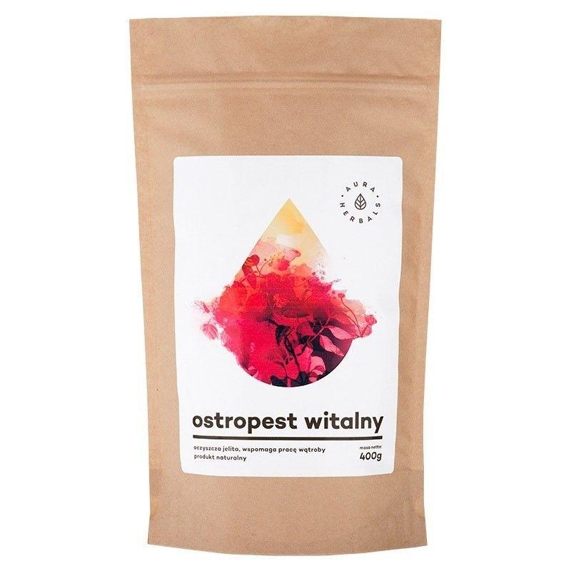 Ostropest witalny - mielony ostropest + babka jajowata (400 g) Aura Herbals