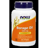 Borage Oil - Olej z Ogórecznika 1000 mg (60 kaps.) Now Foods