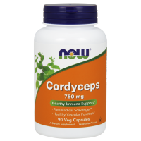 Grzyb Cordyceps 750 mg (90 kaps.) Now Foods