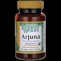 Migdałecznik Arjuna - Kwas Arjunowy 500 mg (60 kaps.) Swanson