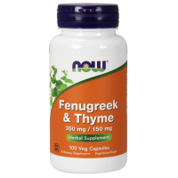 Fenugreek i Thyme - Kozieradka i Tymianek (100 kaps.) Now Foods