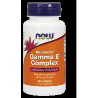 Gamma E Complex - Witamina E  mieszane Tokoferole i Tokotrienole (60 kaps.) Now Foods