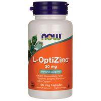 L-OptiZinc - Cynk i Miedź (100 kaps.) Now Foods
