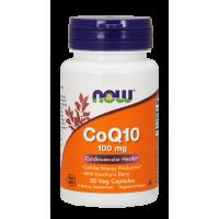 Koenzym Q10 100 mg i Głóg 400 mg (30 kaps.) Now Foods
