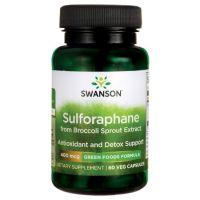 Sulforafan 400 mcg - Kiełki Brokuł ekstrakt (60 kaps.) Swanson