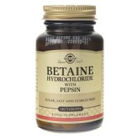 Betaina (Chlorowodorek Betainy) z Pepsynami (100 tabl.) Solgar