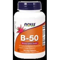 Witamina B 50 - Kompleks Witamin B (100 kaps.) NOW Foods
