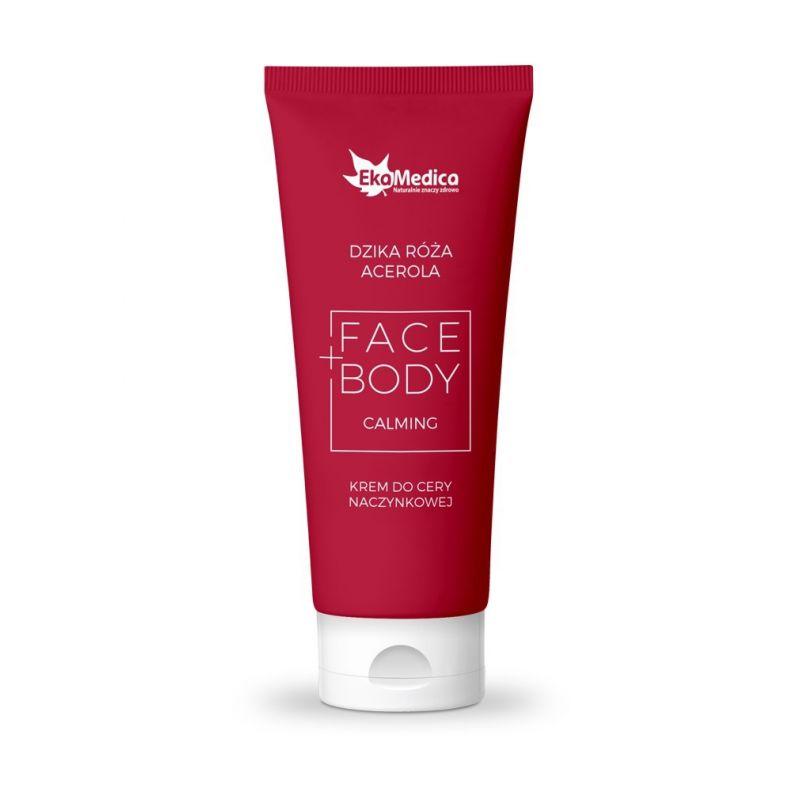 Dzika Róża + Acerola - Krem do cery naczynkowej Face+Body (100 ml) EkaMedica
