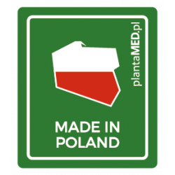 Naklejka MADE IN POLAND (4,0 x 4,7 cm) plantaMED.pl